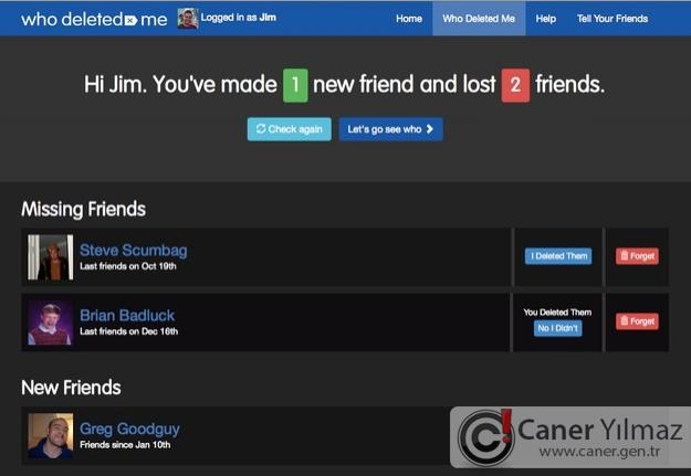 Facebook'ta Sizi Silen Arkadaşlarınızı Öğrenin