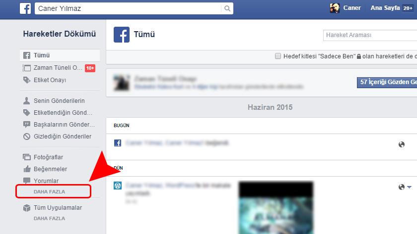 Facebook Yakın Aramaları Kaldırma
